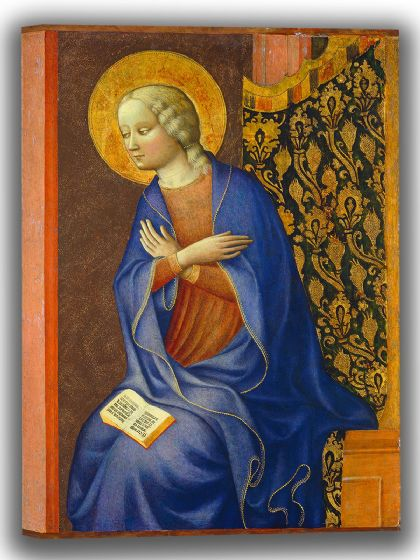 Panicale, Masolino da: The Virgin Annunciate. Fine Art Canvas. Sizes: A4/A3/A2/A1 (004169)